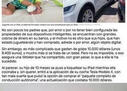 Enlace a Un bebé de 10 meses compra, sin querer, una actualización de 8.400 euros para el Tesla... y no es reembolsable