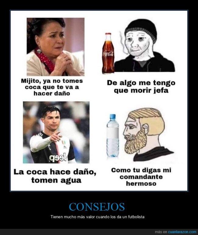 agua,cocacola,cristiano ronaldo