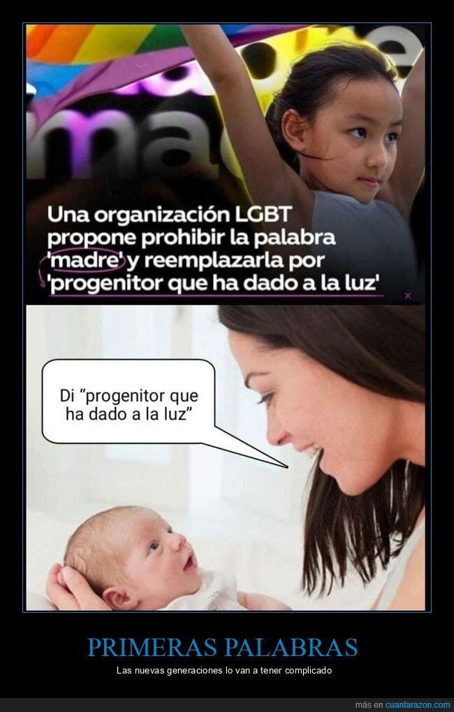 madre,progenitor que ha dado a luz