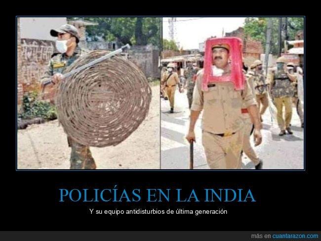 antidisturbios,india,policía,wtf
