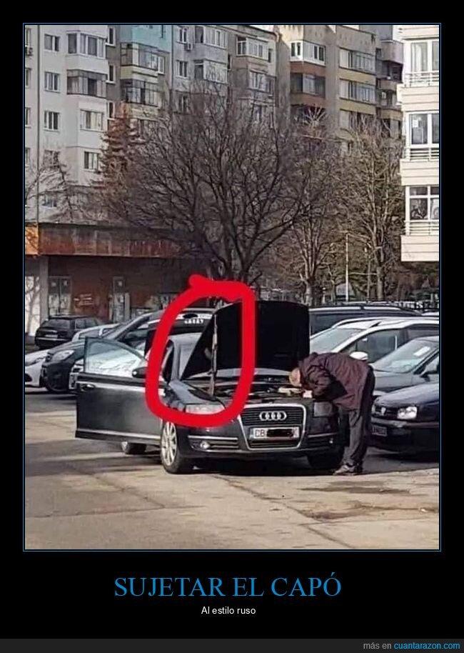 arma,capó,coche,rusos,wtf