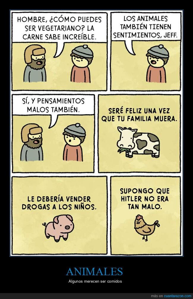 animales,carne,sentimientos,vegetariano