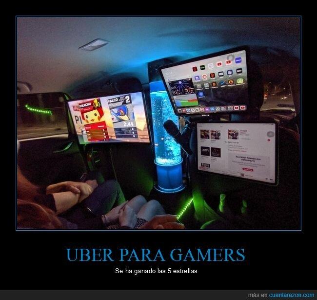 gamers,uber,videojuegos