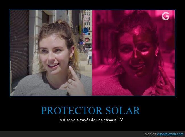 cámara uv,protector solar