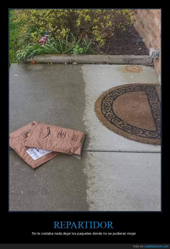 fails,lluvia,repartidor