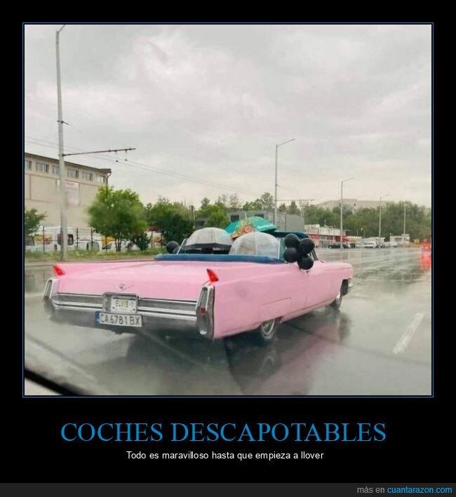 coche,descapotable,paraguas,wtf