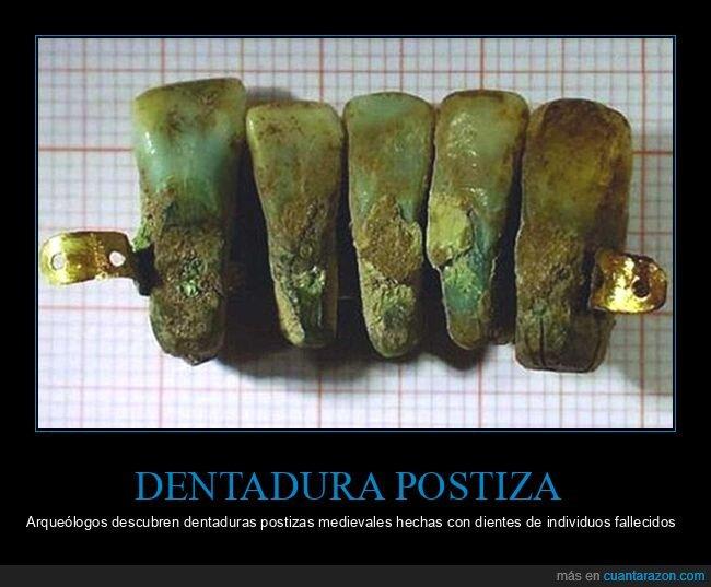 dentadura,dientes,medievo,postiza
