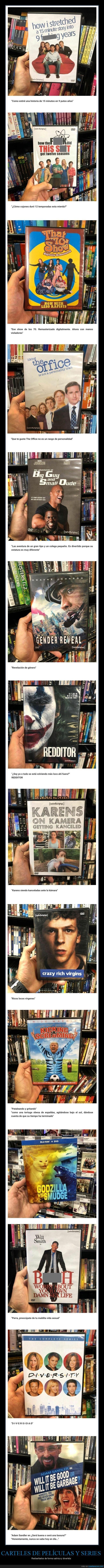carteles,películas,rediseñados,series