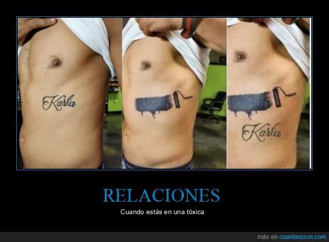 relación,tattoo,tóxica