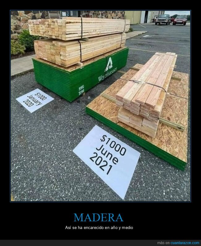 madera,precio