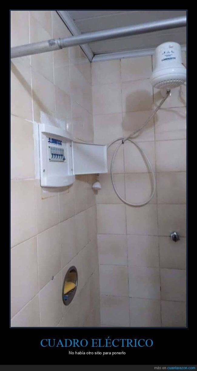 cuadro eléctrico,ducha,fails