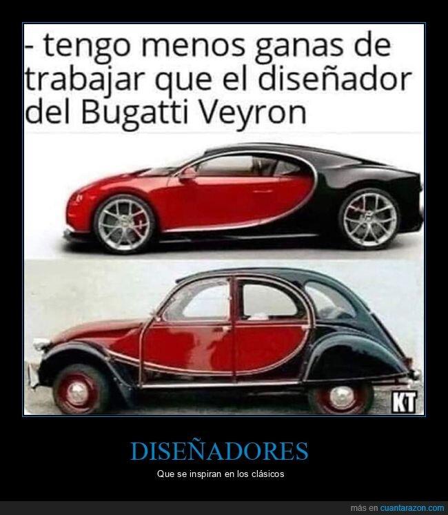 bugatti veyron,diseñador,dos caballos,ganas,parecidos,trabajar