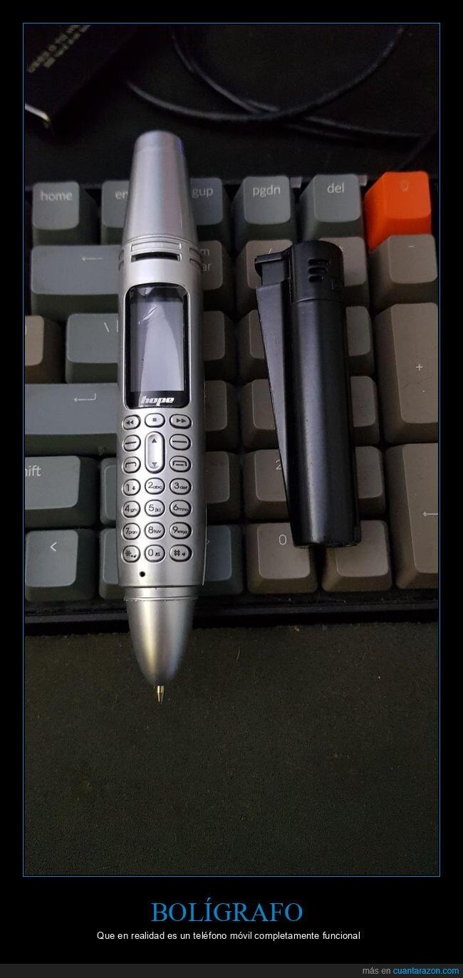 bolígrafo,móvil,wtf