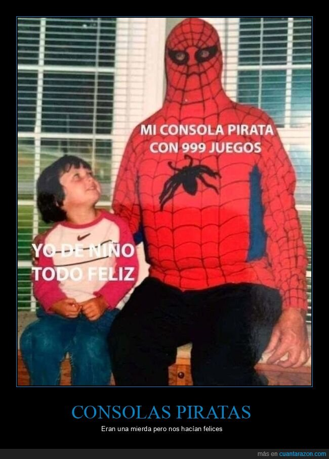 consola,feliz,pirata,spiderman,videojuegos