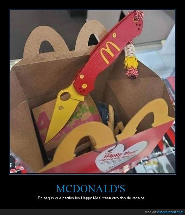 happy meal,mcdonald's,navaja
