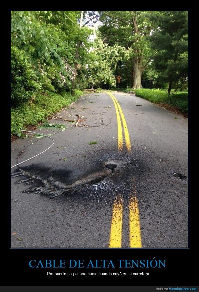 cable de alta tensión,carretera,marca
