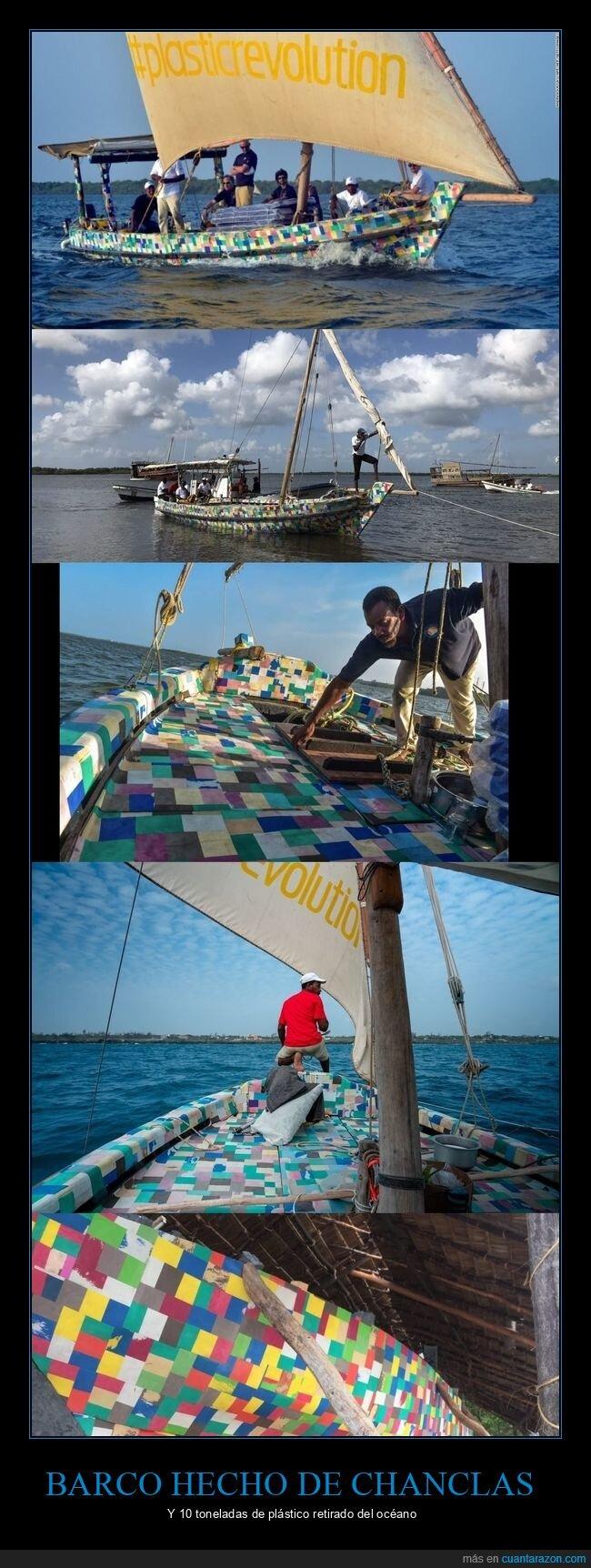 barco,chanclas,océano,reciclaje