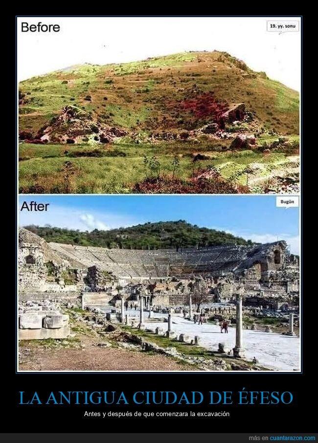 antes,después,éfeso,excavación