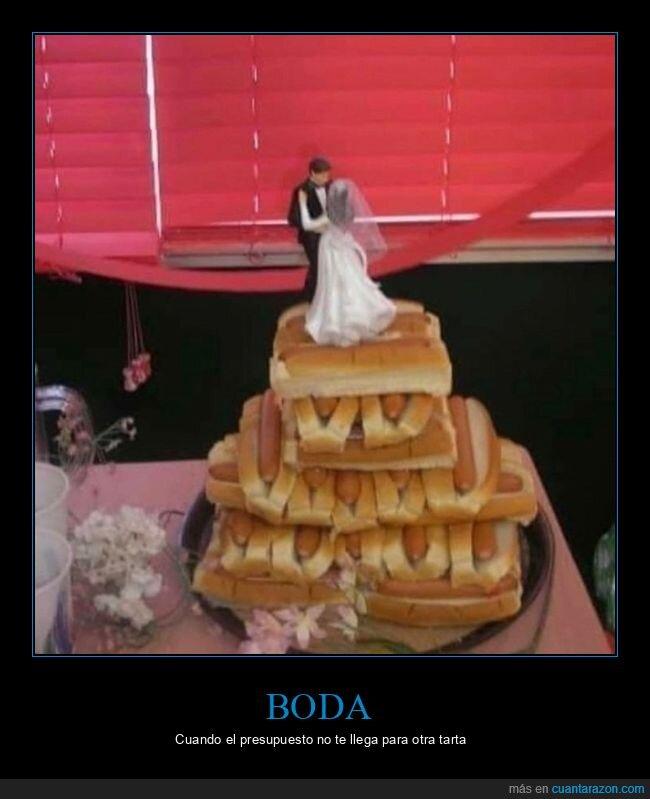 boda,hot dog,mierder,tarta