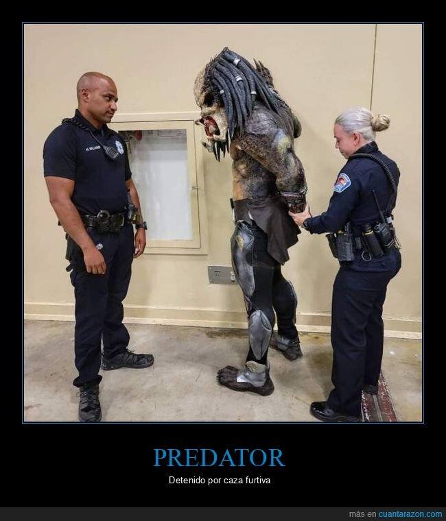 arresto,depredador,disfraz,policía