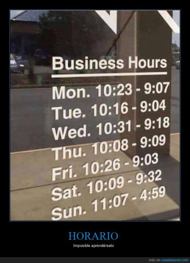 horario,wtf