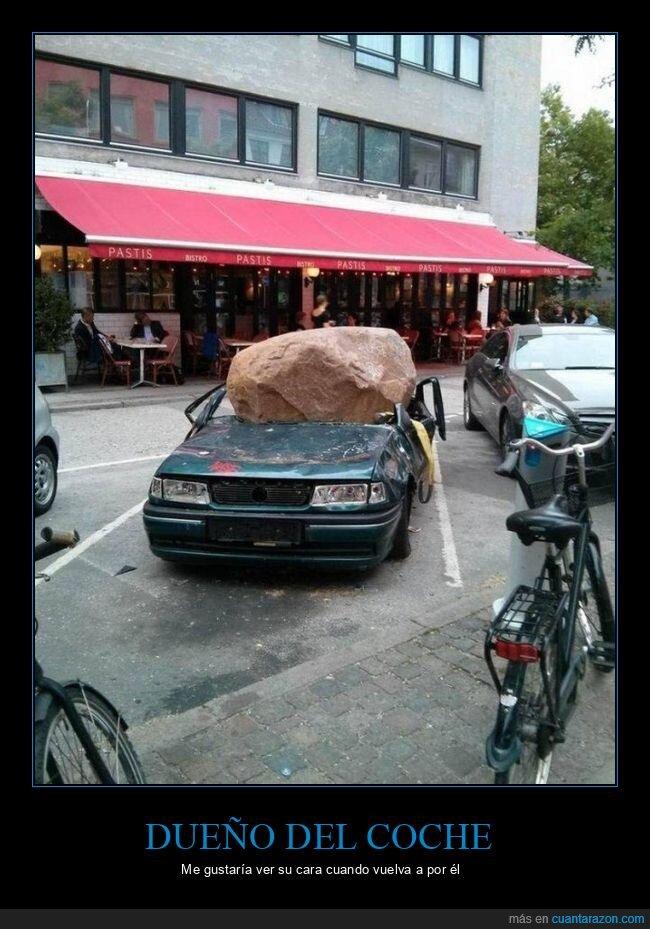 coche,fails,roca
