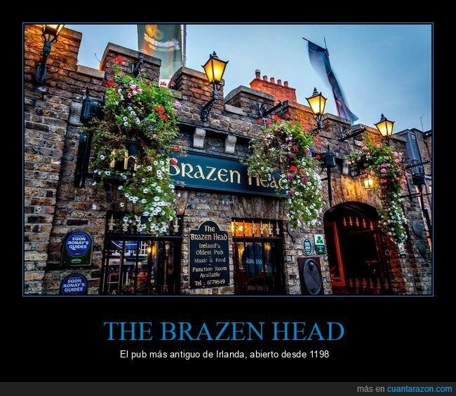 antiguo,curiosidades,irlanda,pub,the brazen head