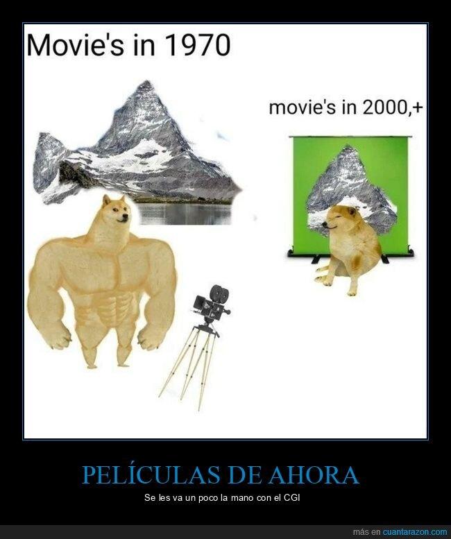 antes,después,doge y cheems,películas