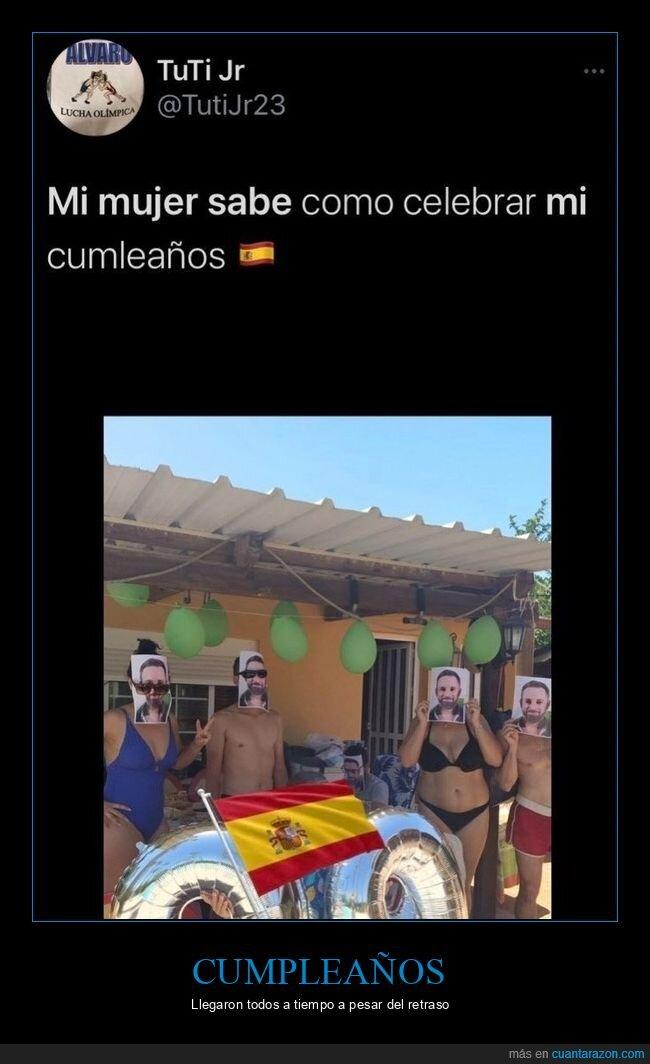 caretas,cumpleaños,personajes,políticos,santiago abascal,wtf