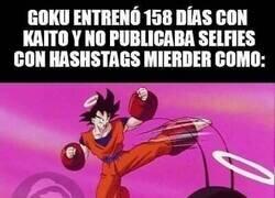 Enlace a Goku siempre dando ejemplo