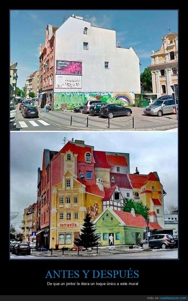 antes,después,mural