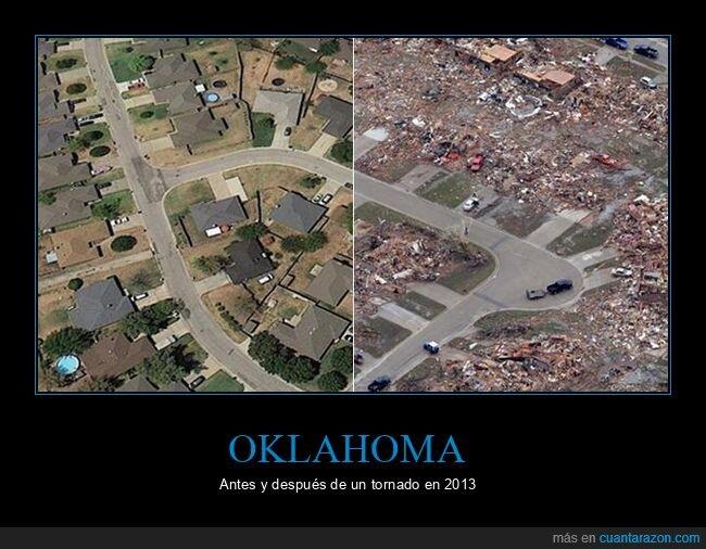 antes,después,oklahoma,tornado