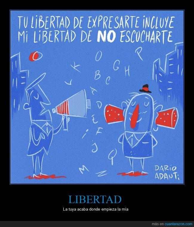 escuchar,expresarse,libertad