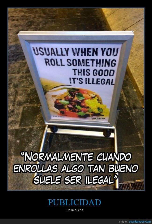 burrito,enrollar,ilegal