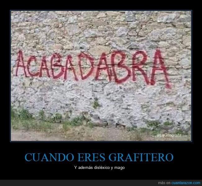 disléxico,graffiti,mago