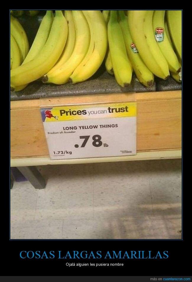cosas largas amarillas,plátanos
