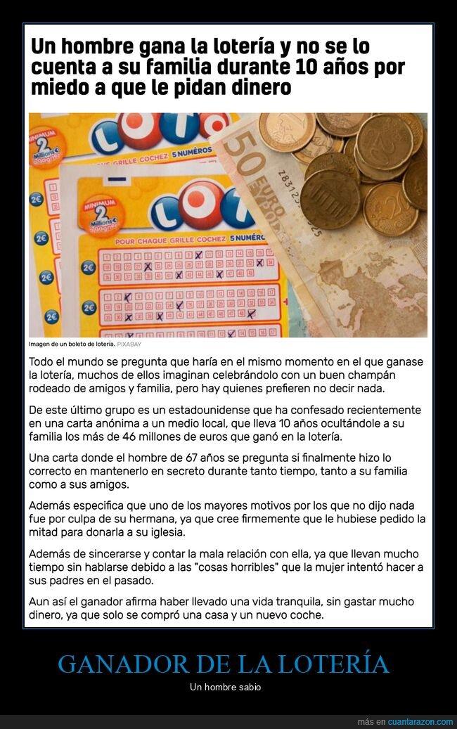contar,familia,ganar,lotería