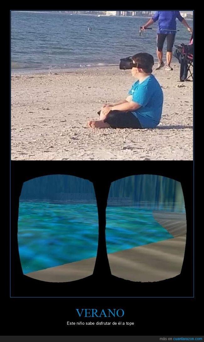 niño,playa,realidad virtual,wtf