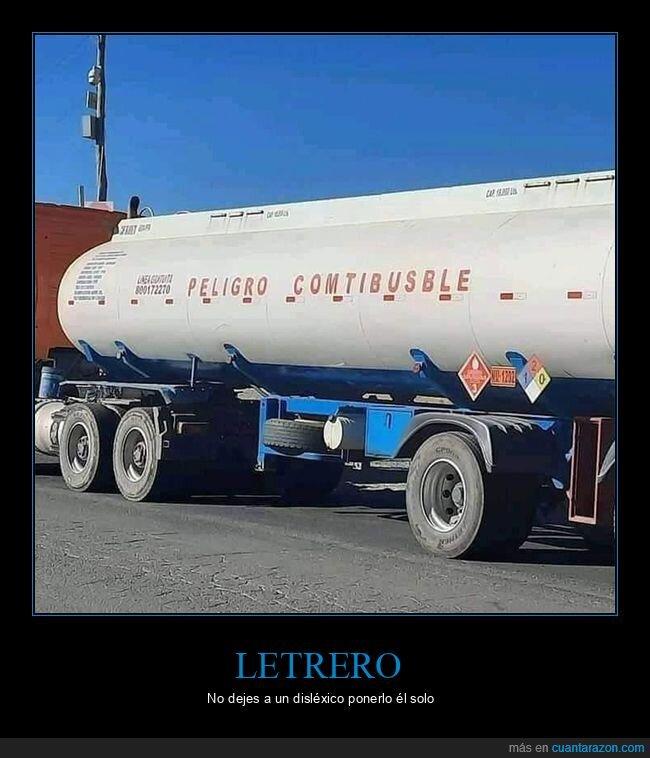 camión,fails,letrero