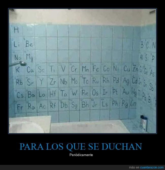 ducha,periódica,tabla
