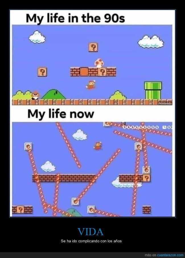 ahora,años 90,mario,vida