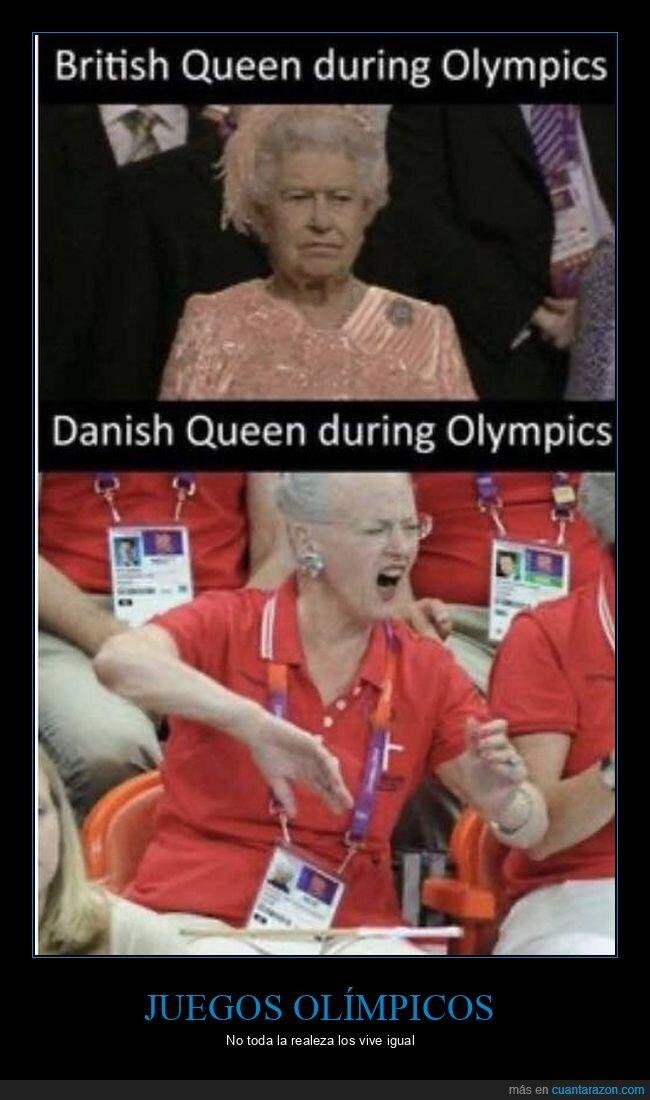 dinamarca,inglaterra,juegos olímpicos,reinas