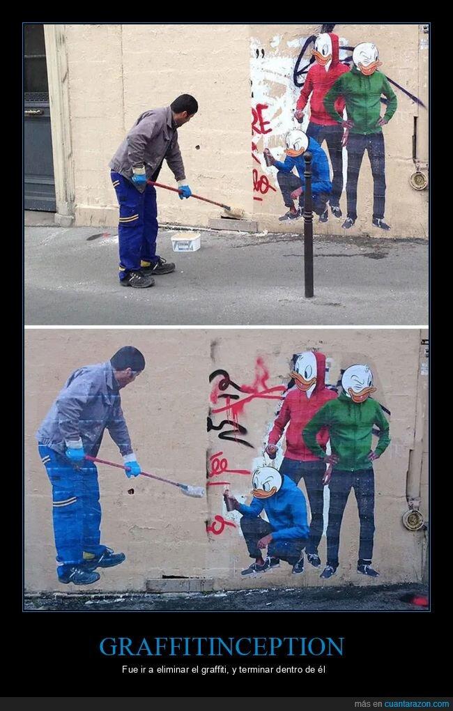 escoba,graffiti,limpiar,pared