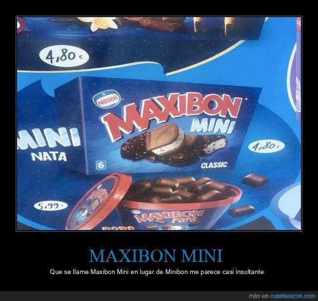 helado,maxibon mini,minibon