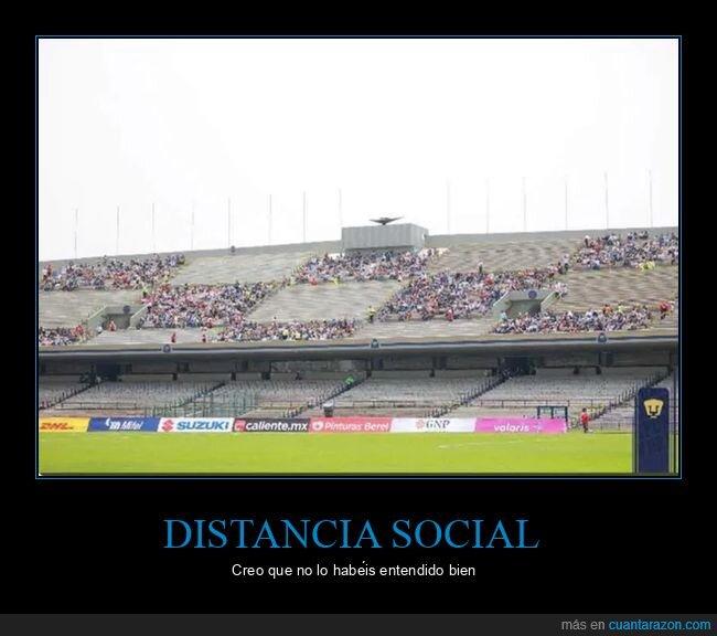 campo,distancia social,estadio