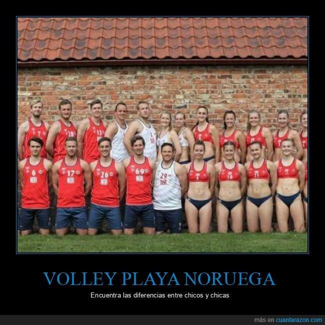 equipo,noruega,ropa,volleyball