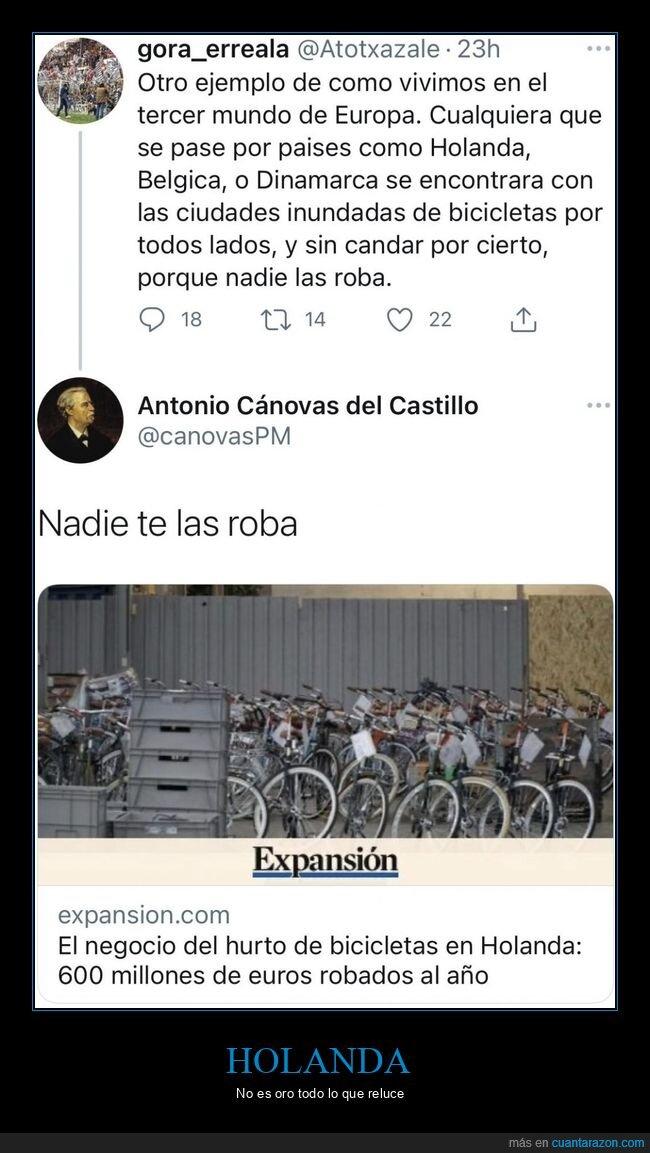 bicicletas,holanda,hurtos,seguridad