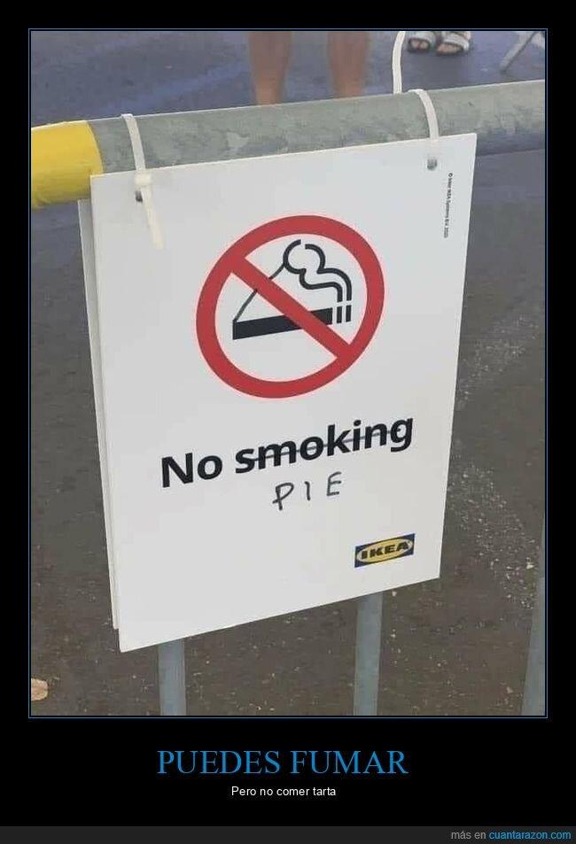 cartel,fumar,modificar,tarta,troleo