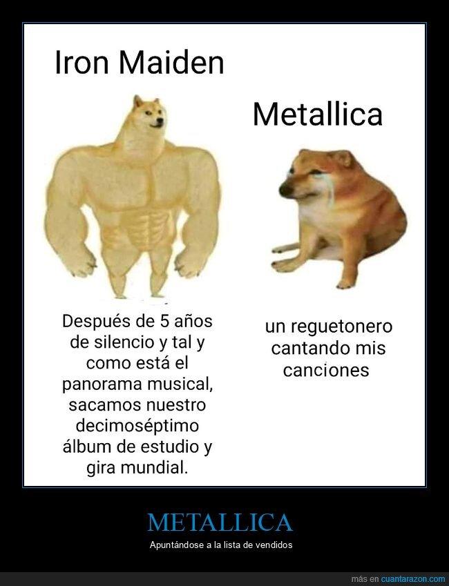 cheems,doge,iron maiden,metallica,música