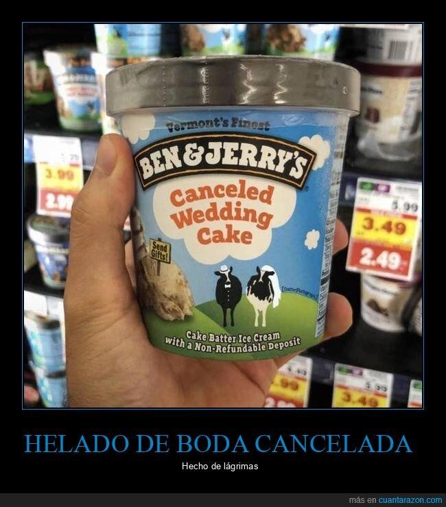 ben & jerry,boda,cancelada,helado